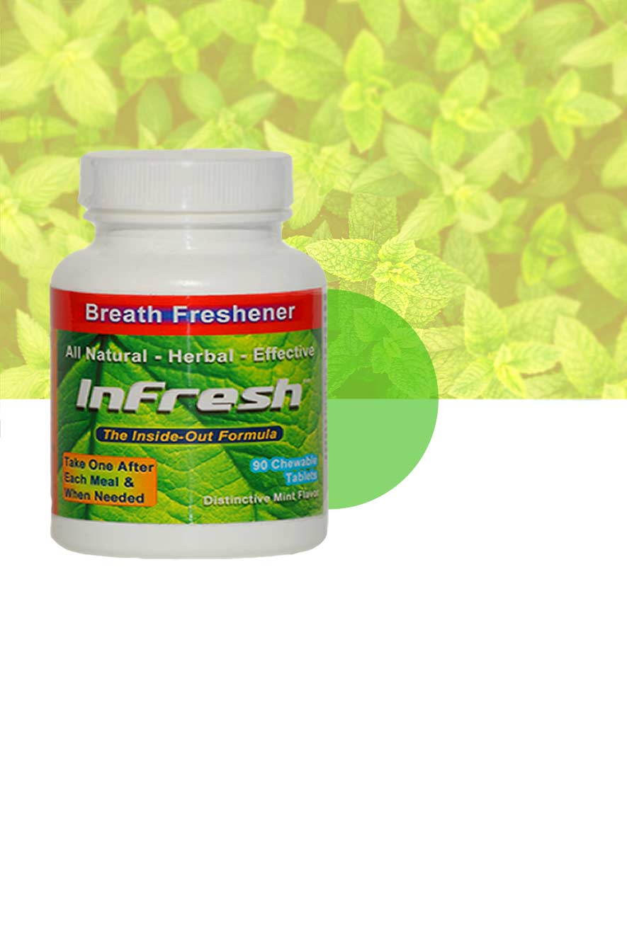 One Bottle InFresh Spearmint background